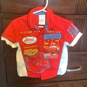 Disney toddler boy button down shirt